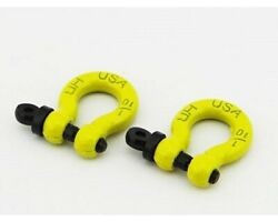 Hot Racing Acc808x04 1/10 Scale Aluminum Yellow Tow Shackle D-rings 2