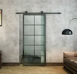 Aluminum Frame Interior Clear Tempered Glass Partition Door Paneldisassembled