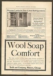 Vintage Ads For Mccray Refrigerators, Swift Wool Soap And A.m. Cross Weight Loss