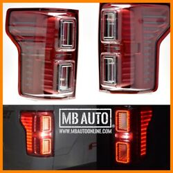 Morimoto Xb Red For 18 19 20 Ford F150 Led Tail Lights Lamps W/o Blind Spot Pair