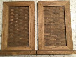 Vintage Early Rare Longaberger Wall Or Table Shelfpair. Original Stain