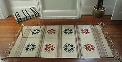 Vintage 1940and039s Zapotec Handwoven Rug/mexican Rug/handwoven Rug/vintage
