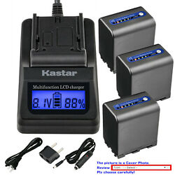 Kastar Battery Lcd Fast Charger For Sony Np-qm91d And Sony Dcr-dvd200 Dcr-dvd201