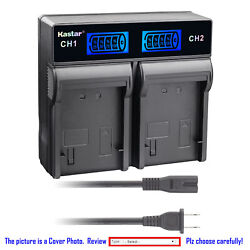 Kastar Battery Lcd Rapid Charger For Sony Np-qm91d And Sony Dcr-dvd200 Dcr-dvd201