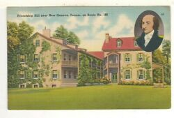 C1940 Postcard View Of Friendship Hill - New Geneva, Pa On Route 168