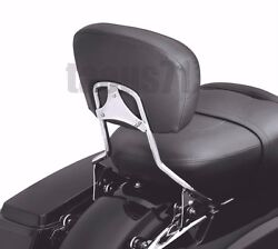 Quick Release Chrome Backrest Sissy Bar For Harley Touring Electra Glide 09-21