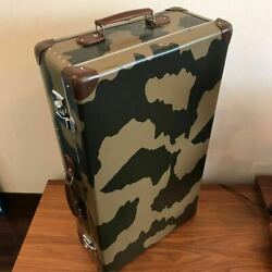 Globe trotter Spitfire large carry suit case with camouflage bag belt Trolley