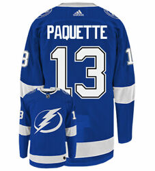 Cedric Paquette Tampa Bay Lightning Adidas Authentic Home Nhl Hockey Jersey