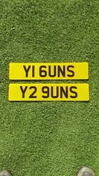 What A Great Pair Of Cherished Number Plates Y1 6uns - Y2 9uns