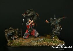 Tin And Resin Soldiers Museum Top Lone Wolf 90 Mm Feudal Japan