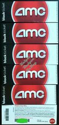 Six 6 AMC Black Movie tickets fast shipping with tracking