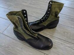 1960s Vintage Vietnam Clc Jungle Boots 11 N Combat Us Army Military Leather