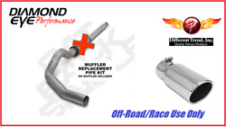 Diamond Eye Single 5 Cat-back Exhaust W/ 6 Tip For 94-97 Ford F250 F350 7.3l