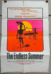 The Endless Summer Rare Original 1966 Bruce Brown Surfing Day-glo One-sheet