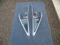 1969 Chrysler Newport Convertible Vent Wing Windows With Frames Left And Right