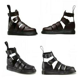 Mens Roman Gladiator Sandals Boot Cut Out Closed Toe Buckles High Top Moccasins