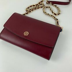 New Tory Burch Parker Leather Chain Crossbody Style 38963 $154.88