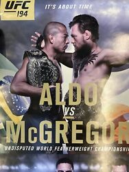 Offical Ufc 194 Aldo Vs Mcgregor Poster 18x24 Very Rare These Were Not 4 Public