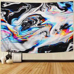 US Abstract Trippy Painting Tapestry Hippie Blanket Room Wall Hanging Home Decor