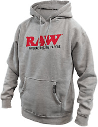 Raw Natural Rolling Paper Raw Og Grey Pull Over Hoodie Medium With Free Shipping
