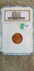 1949 S Lincoln Wheat Cent Penny 1c Ngc Certified Ms 67 Rd
