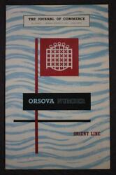 Orient Line Ss Orsova Journal Of Commerce Special Edition Delux Magazine 1954