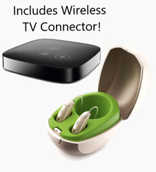 Pair Of Phonak Marvel M90 Rechargeable Hearing Aids + Free Tv Connector