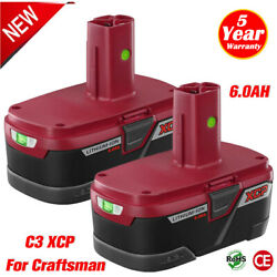 6.0ah 19.2 Volt Lithium Battery For Craftsman C3 Xcp Battery 130279005 Pp2030 Us