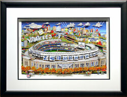 In Ny...yankees Are What Dreams Are Made Of Charles Fazzino Framed 3d Baseball