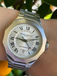 Baume And Mercier Riviera Watch Automatic Gmt Date Mens 40mm Swiss Made Serviced