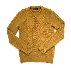 Gap Camel Brown Tan Cable Knit Sweater Wool Small
