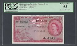 British Caribbean Territories One Dollar 3-1-1955 P7bs Specimen Extremely Fine
