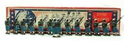 Lot 14 French Senegalese Infantry Lead Toy Soldier Figures 1914 Bayonet Antique