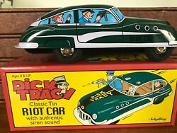 Ra Schylling Dick Tracy Classic Tin Riot Car With Authentic Siren