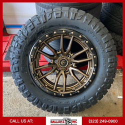 20x10 Fuel Rebel Offroad On 35x12.50r20 M/t Tires Chevy Ford 6 Lug Fuel