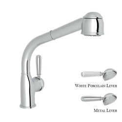 Rohl R7903apc Classic 1983 Pull-out Spray Spout Kitchen Faucet Polished Chrome