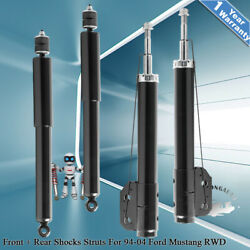Front And Rear Shocks Absorber Struts For 1994-2004 Ford Mustang Gt Base Coupe