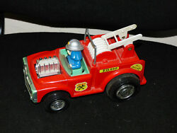 Vintage Fire Dept F.d. 210 Yonezawa Toy Made In Japan Rare