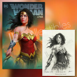 🔥 Wonder Woman 750 Exclusive Shannon Maer Variant Dc With Sketch Coa Nm