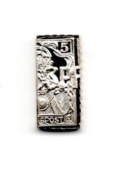 1901 Germany Post Solid Silver Proof Miniature Stamp Hallmarked