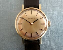 Zenith Vintage Mechanical Hand Winding Gold Filled Womenand039s Watch 1110 Caliber