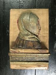 16th Century Flemish Relief Carving Of The Madonna Or A Female Saint