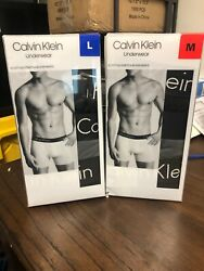 3 Pack Calvin Klein Mens Classic Fit 95% Cotton 5% ELASTANE BOXER BRIEFS VARIETY $19.99