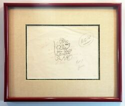 Disney Opd Mickey Mouse Firefighter Color Key Original Production Drawing Fr