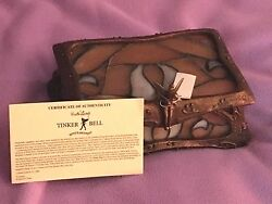 Disney Tinker Bell Stained Glass Jewelry Box