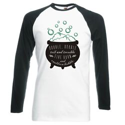 Witchcraft Double, Double, Toil And Trouble Raglan Longsleeve Baseball T-shirt