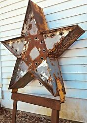 Vintage Large 2-sided Light Bulb Business Marquee Sign 5-point Star Custom-made