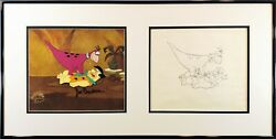 Dino In Stay Out Opc/opd Dino And Fred Original Production Cel/drawing Framed