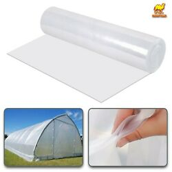 12x25ft Greenhouse Pe Cover Clear Plastic Film 6mil Thick Polyethylene Covering