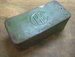 Antique International Harvester Tractor Or Farm Implement Metal Tool Box